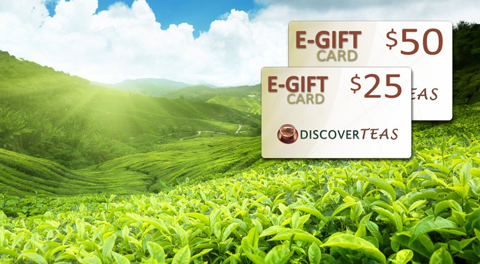 Looking to share the finest loose tea available with your friends or family? Consider a Discover Teas gift card! View Gift Cards